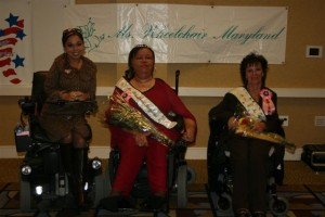 Denise Thomas, Ms. Wheelchair Maryland 2008 with Ms. Wheelchair America 2005 Juliette Rizzo and Ms. Wheelchair Maryland 2007 Cathy Porter