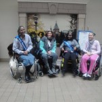 Loving Sisterhood! Channel (right end of picture) potential Ms. Wheelchair MD candidate.